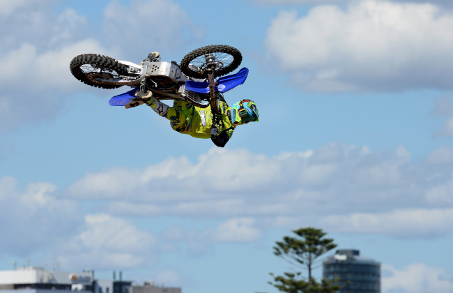 Best Whip / Cheyne Boyd (AUS) 1st place Australian FMX Grand Prix at the  Australian F1 GP / Albert Park March 17th - 20th 2016 © Sport the library / Jeff Crow
