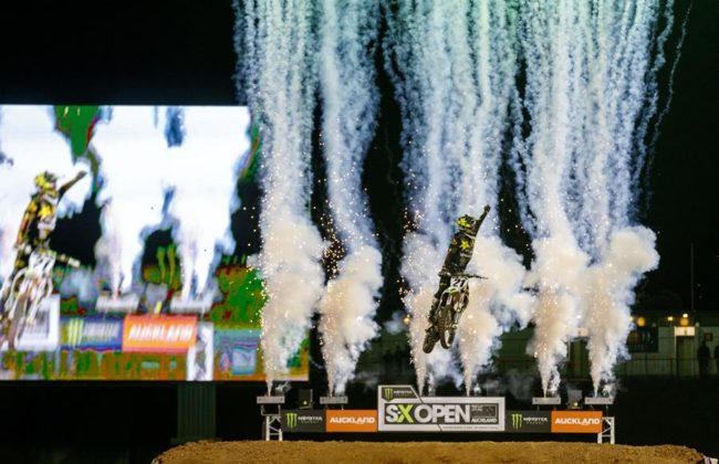 Supercross, Freestyle Motorcross during the Monster Energy S-X Open Auckland, Mt Smart Stadium, Auckland. New Zealand. November 16 2019