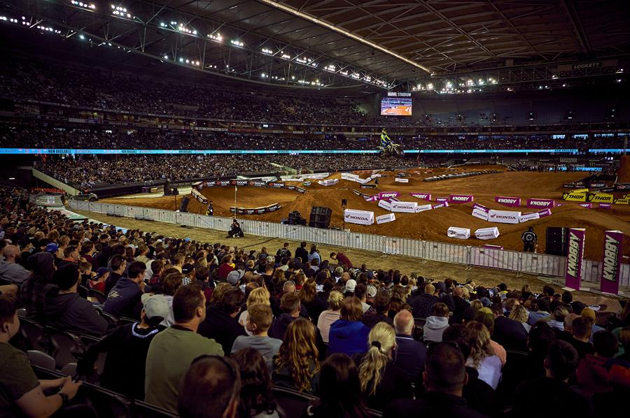 Image from the Monster Energy Aus-X Open at Marvel Stadium, Melbourne on November 30th, 2019.
